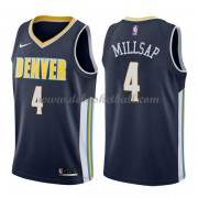 Denver Nuggets Basketball Trikots 2018 Paul Millsap 4# Road Trikot Swingman..