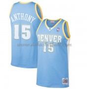 Denver Nuggets Mens 2003-04 Carmelo Anthony 15# Light Blue Hardwood Classics Swingman..