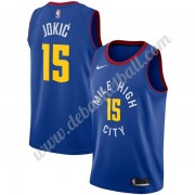 Denver Nuggets Basketball Trikots NBA 2019-20 Nikola Jokic 15# Blau Statement Edition Swingman..