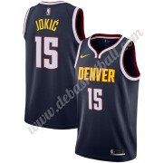 Denver Nuggets Basketball Trikots NBA 2019-20 Nikola Jokic 15# Marine Icon Edition Swingman..