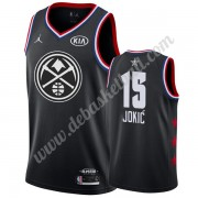 Denver Nuggets Basketball Trikots 2019 Nikola Jokic 15# Schwarz All Star Game Swingman..
