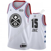 Denver Nuggets Basketball Trikots 2019 Nikola Jokic 15# Weiß All Star Game Swingman..