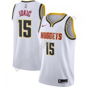 Denver Nuggets Basketball Trikots NBA 2019-20 Nikola Jokic 15# Weiß Association Edition Swingman..