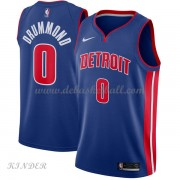 Basketball Trikot Kinder Detroit Pistons 2018 Andre Drummond 0# Road Swingman..