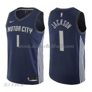 Basketball Trikot Kinder Detroit Pistons 2018 Reggie Jackson 1# City Swingman..