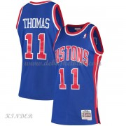Basketball Trikot Kinder Detroit Pistons Kids 1988-89 Isiah Thomas 11# Blue Hardwood Classics Swingm..