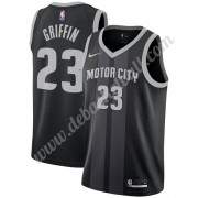 Detroit Pistons Basketball Trikots NBA 2019-20 Blake Griffin 23# Schwarz City Edition Swingman..