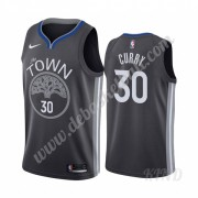 Basketball Trikot Kinder Golden State Warriors 2019-20 Stephen Curry 30# Schwarz City Edition Swingm..