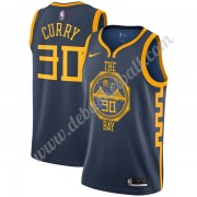 Golden State Warriors Basketball Trikots NBA 2019-20 Stephen Curry 30# Marine City Edition Swingman..