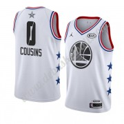 Golden State Warriors Basketball Trikots 2019 Demarcus Cousins 0# Weiß All Star Game Swingman..