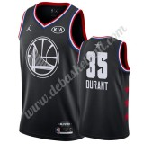Golden State Warriors Basketball Trikots 2019 Kevin Durant 35# Schwarz All Star Game Swingman