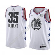 Golden State Warriors Basketball Trikots 2019 Kevin Durant 35# Weiß All Star Game Swingman..