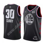 Golden State Warriors Basketball Trikots 2019 Stephen Curry 30# Schwarz All Star Game Swingman..