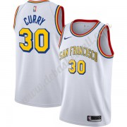 Golden State Warriors Basketball Trikots NBA Stephen Curry 30# Weiß Finished Hardwood Classics Swing..