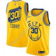 Golden State Warriors Basketball Trikots NBA 2019-20 Stephen Curry 30# Gelb Finished Hardwood Classi..