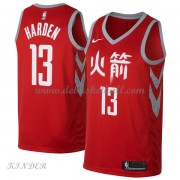Basketball Trikot Kinder Houston Rockets 2018 James Harden 13# City Swingman..