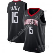 Basketball Trikot Kinder Houston Rockets 2019-20 Clint Capela 15# Schwarz Statement Edition Swingman..