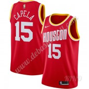 Basketball Trikot Kinder Houston Rockets 2019-20 Clint Capela 15# Rot Finished Hardwood Classics Swi..