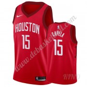 Basketball Trikot Kinder Houston Rockets 2019-20 Clint Capela 15# Rot Earned Edition Swingman..