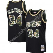 Houston Rockets Basketball Trikots NBA 1993-94 Hakeem Olajuwon 34# Schwarz Straight Fire Camo Swingm..