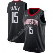 Houston Rockets Basketball Trikots NBA 2019-20 Clint Capela 15# Schwarz Statement Edition Swingman..