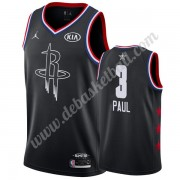 Houston Rockets Basketball Trikots 2019 Chris Paul 3# Schwarz All Star Game Swingman..