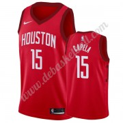 Houston Rockets Basketball Trikots NBA 2019-20 Clint Capela 15# Rot Earned Edition Swingman..