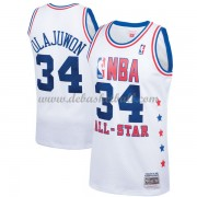 Houston Rockets Basketball Trikots Hakeem Olajuwon 34# White 1989 All Star Hardwood Classics Swingma..