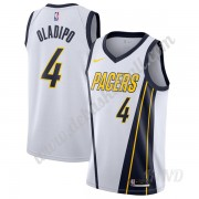 Basketball Trikot Kinder Indiana Pacers 2019-20 Victor Oladipo 4# Weiß Earned Edition Swingman..