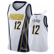 Basketball Trikot Kinder Indiana Pacers 2019-20 Tyreke Evans 12# Weiß Earned Edition Swingman..