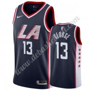 Los Angeles Clippers Basketball Trikots NBA 2019-20 Paul George 13# Marine City Edition Swingman..