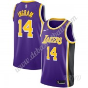 Basketball Trikot Kinder Los Angeles Lakers 2019-20 Brandon Ingram 14# Lila Statement Edition Swingm..