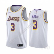 Basketball Trikot Kinder Los Angeles Lakers 2019-20 Anthony Davis 3# Weiß Association Edition Swingm..