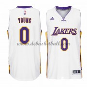 Los Angeles Lakers Basketball Trikots 2015-16 Nick Young 0# Weiß Home Trikot Swingman