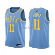 Los Angeles Lakers Basketball Trikots 2018 Brook Lopez 11# Light Blue Hardwood Classics Swingman..