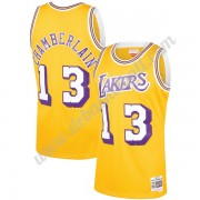 Los Angeles Lakers Basketball Trikots NBA 1971-72 Wilt Chamberlain 13# Gold Hardwood Classics Swingm..