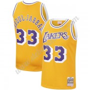 Los Angeles Lakers Basketball Trikots NBA 1984-85 Kareem Abdul-Jabbar 33# Gold Hardwood Classics Swi..