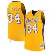 Los Angeles Lakers Basketball Trikots NBA 1999-00 Shaquille O'Neal 34# Gold Hardwood Classics Swingm..