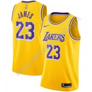 Los Angeles Lakers Basketball Trikots NBA 2019-20 LeBron James 23# Gold Icon Edition Swingman..