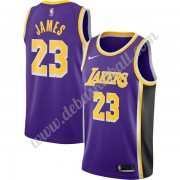 Los Angeles Lakers Basketball Trikots NBA 2019-20 LeBron James 23# Lila Replica Statement Edition Sw..