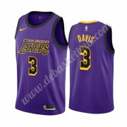 Los Angeles Lakers Basketball Trikots NBA 2019-20 Anthony Davis 3# Lila City Edition Swingman..