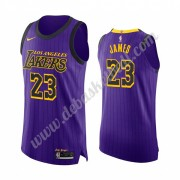 Los Angeles Lakers Basketball Trikots NBA 2019-20 LeBron James 23# Lila City Edition Swingman..