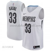 Basketball Trikot Kinder Memphis Grizzlies 2018 Marc Gasol 33# City Swingman..