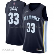 Basketball Trikot Kinder Memphis Grizzlies 2018 Marc Gasol 33# Road Swingman..