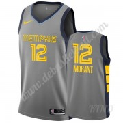 Basketball Trikot Kinder Memphis Grizzlies 2019-20 Ja Morant 12# Grau City Edition Swingman..
