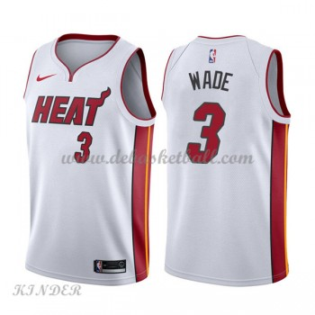 Basketball Trikot Kinder Miami Heat 2018 Dwyane Wade 3# Home Swingman