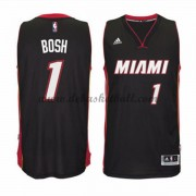 Miami Heat Basketball Trikots 2015-16 Chris Bosh 1# Road Trikot Swingman..