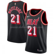 Miami Heat Basketball Trikots 2018 Hassan Whiteside 21# Black Hardwood Classics Swingman..