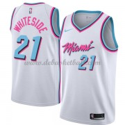 Miami Heat Basketball Trikots 2018 Hassan Whiteside 21# City Swingman..