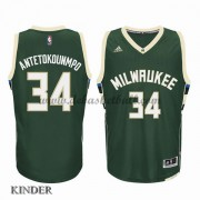 Basketball Trikot Kinder Milwaukee Bucks 2015-16 Giannis Antetokounmp 34# Road Swingman..